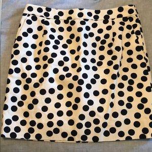 J. Crew Polka dot work skirt